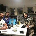 دورهمی هدیه تهرانی به همراه خواننده سرشناس زیرزمینی! / عکس