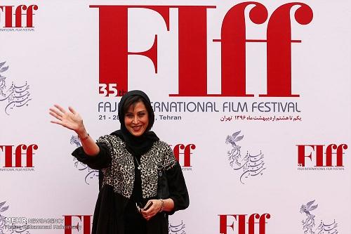مهتاب کرامتی در اختتامیه جشنواره جهانی فیلم فجر