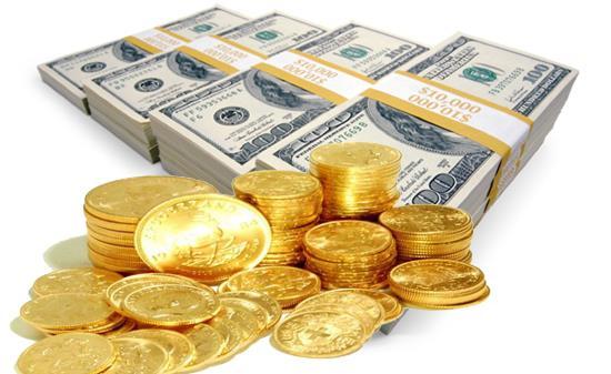افزایش قیمت طلا + قیمت های سکه و دلار