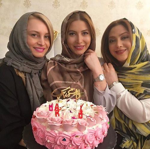 جشن تولد فریبا نادری در کنار دوستان بازیگرش