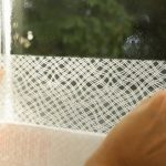روش جداکردن برچسب شیشه مات کن