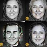 تغییر چهره بسیار جالب هنرمندان و بازیگران با نرم افزار face app