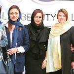 تیپ و ظاهر بازیگران زن در افتتاح یک سالن زیبایی