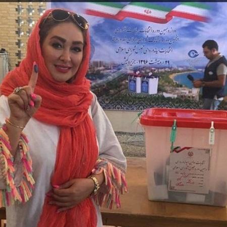 عکس الهام حمیدی در انتخابات 96