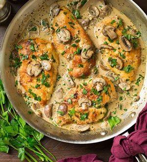 یک غذای خوشمزه و لذیذ با مرغ