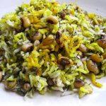 شوید پلو با لوبیا چشم بلبلی،غذای شیرازی