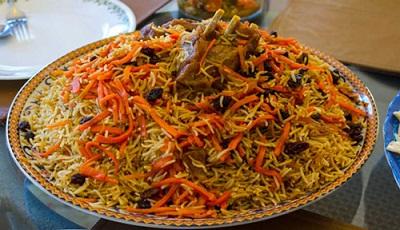مانی پلو ، غذای محلی دامغانی ها