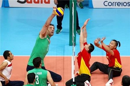 مرتضی مهرزاد بازیکن تیم والیبال نشسته ایران