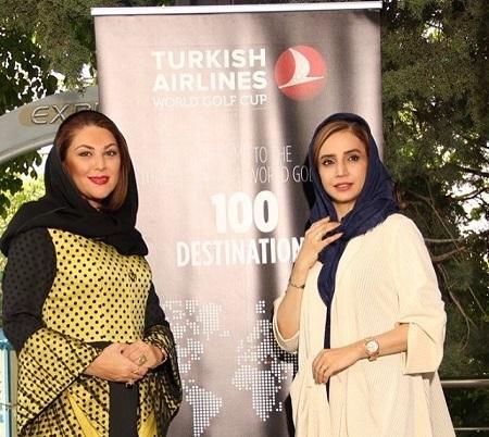 شبنم قلی خانی و لاله اسکندری در مسابقات گلف