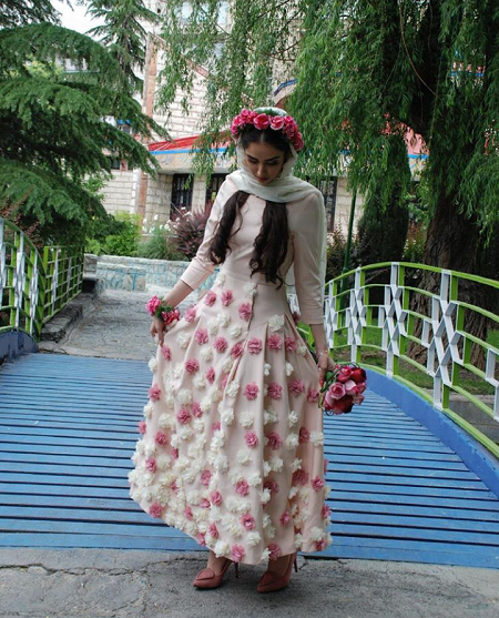مدل لباس عروس هانیه غلامی