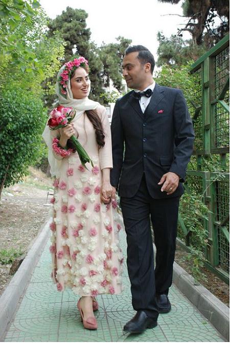 هانیه غلامی و همسرش در مراسم ازدواجشان