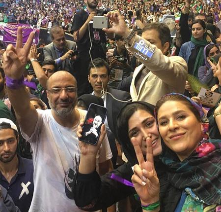 سحر دولنشاهی ، باران کوثری و امیر جعفری در همایش حامیان روحانی