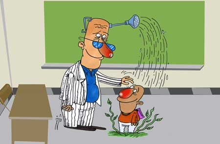 کاریکاتور مفهومی درباره روز معلم