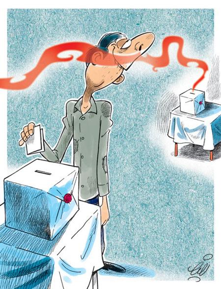 کاریکاتورهای جالب درباره حاشیه های انتخابات