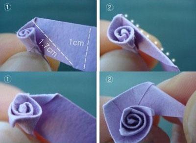 آموزش تصویری گل رز کاغذی