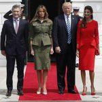 ملانیا ترامپ با یک لباس نظامی متفاوت در کاخ سفید