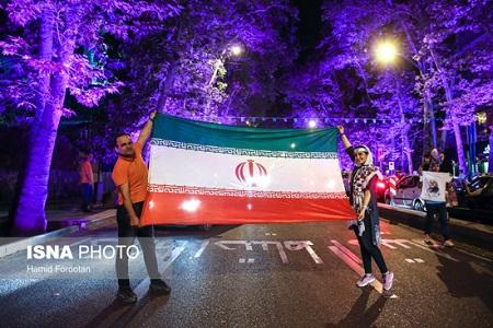 جشن طرفداران روحانی در تهران