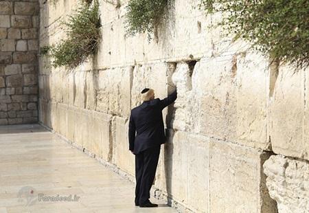 ترامپ پای دیوار ندبه در بیت المقدس