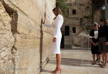 ملانیا همسر ترامپ در بیت المقدس