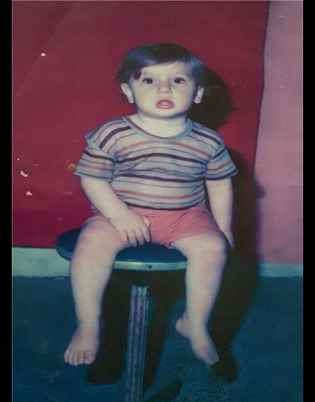 عکس کودکی مرتضی مهرزاد،بلندترین مرد ایران