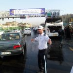 تصاویر آتشسوزی مینیبوس در بزرگراه آیتالله سعیدی/ ۴ تن جان باختند