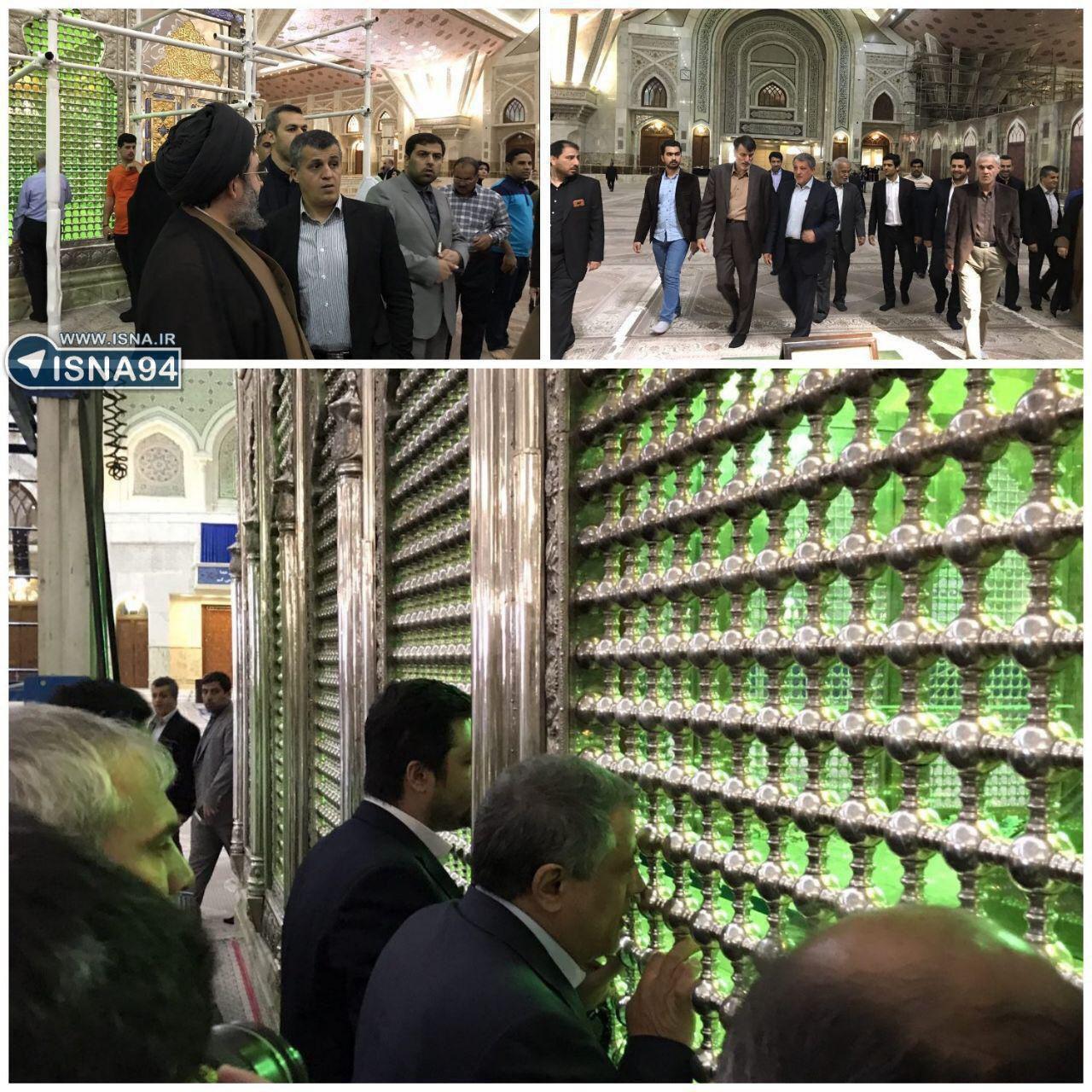 محسن و یاسر هاشمی در کنار مزار پدرشان رای دادند+عکس