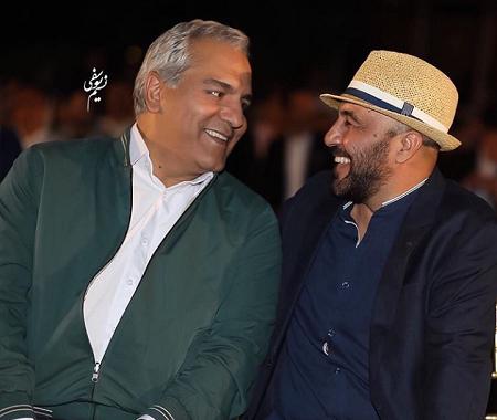 مهران مدیری و رضا عطاران در اکران فیلم نهنگ عنبر2