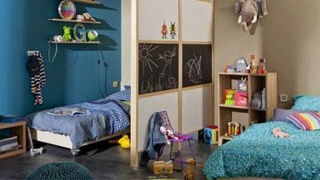 ۲ ایده جالب برای چیدمان اتاق خواب مشترک کودکان+عکس