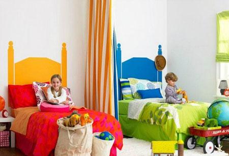 2 ایده جالب برای چیدمان اتاق خواب مشترک کودکان