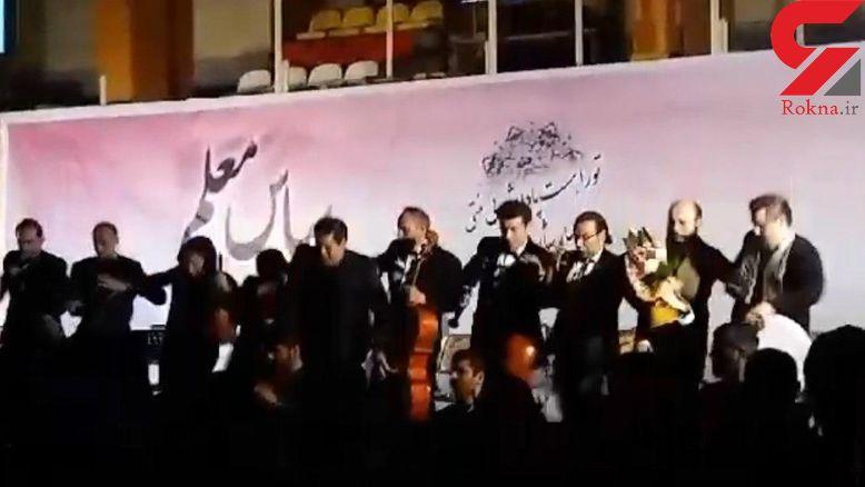 سقوط سالار عقیلی از روی سن حین اجرا