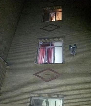 سقوط دختر نوجوان از طبقه سوم ساختمان