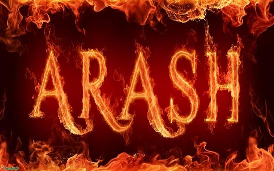 آرش انگلیسی آتشین برای پروفایل , arash