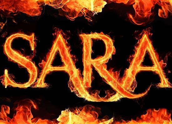 اسم sara آتشین برای پروفایل