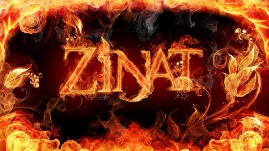 اسم زینت آتشین انگلیسی
