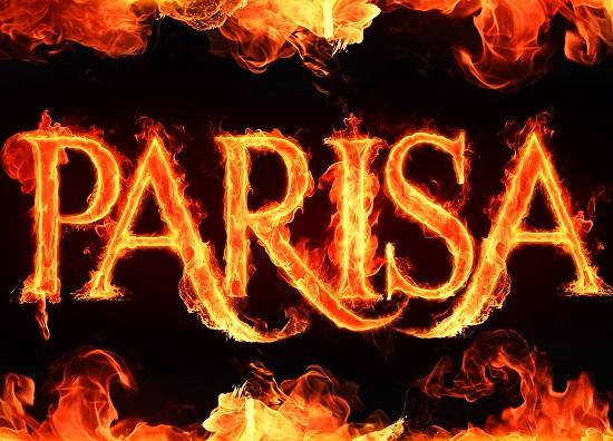 اسم انگلیسی parisa آتشین