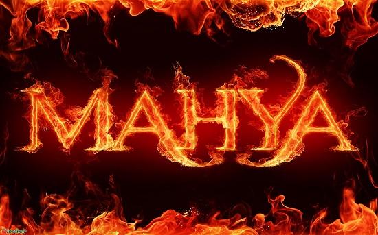 طرح آتشین محیا , mahya