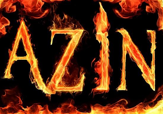 اسم آتشین azin برای پروفایل