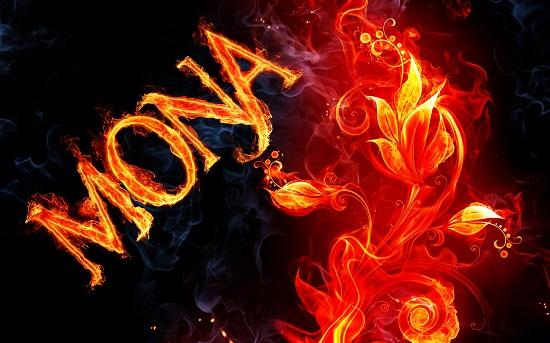 اسم انگلیسی آتشین mona