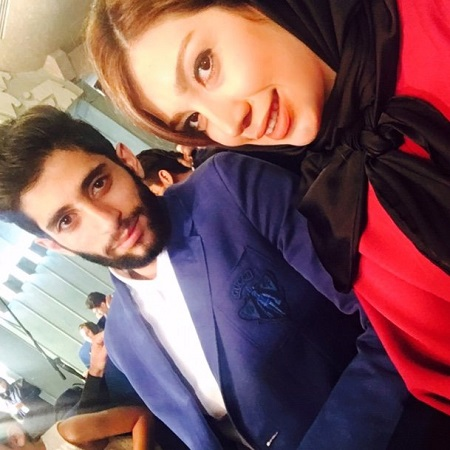 عکس میلاد عبادی پور و همسرش