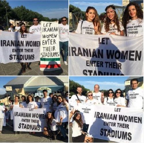 عکس های سانسوری زنان تماشاچی ایرانی در ایتالیا