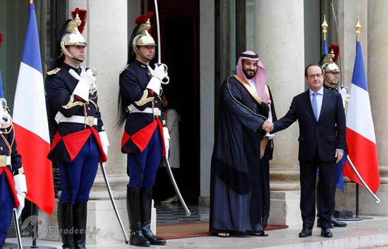 دیدار ولیعهد جدید عربستانمحمد بننایف با رئیس جمهور سابق فرانسه