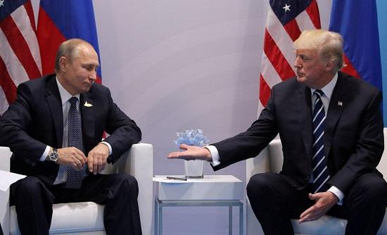 تصویری جالب را از اولین دیدار ترامپ و پوتین