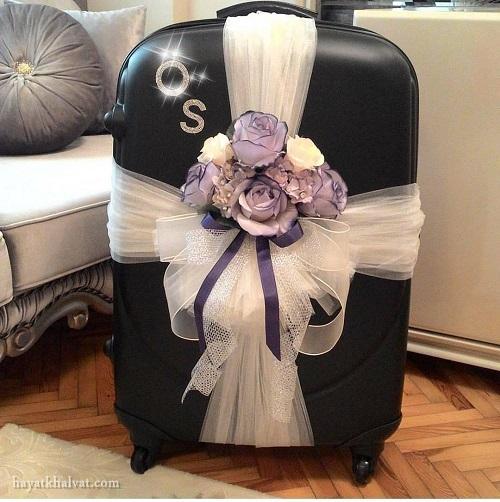 تزیین چمدان عروس و داماد