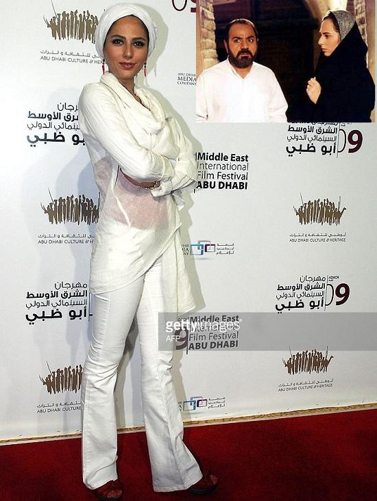پوشش جنجالی رعنا آزادی ور در جشنواره ابوظبی+عکس