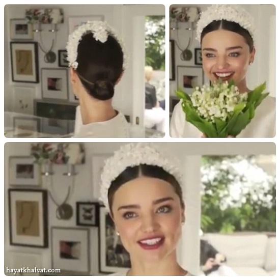 عکس های عروسی میرانداکر ، مدل شینیون عروس