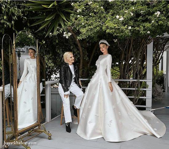 لباس عروس پوشیده و ساده میراندا کر