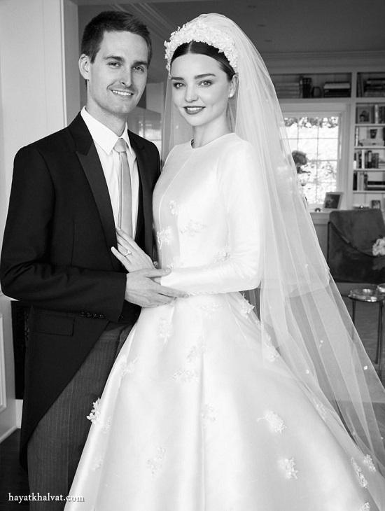 عروسی میراندا کر مدل زیبای استرالیایی