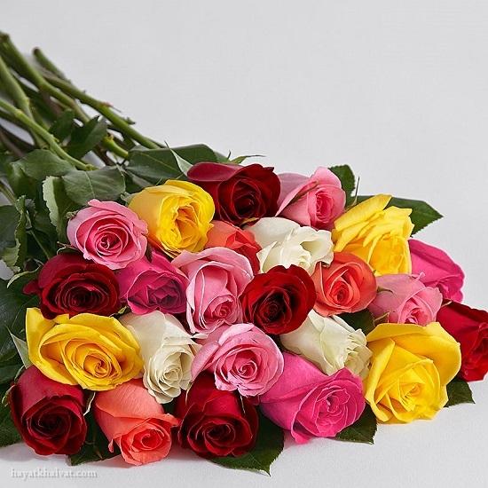 دسته گل رز رومانتیک , دسته گل رز