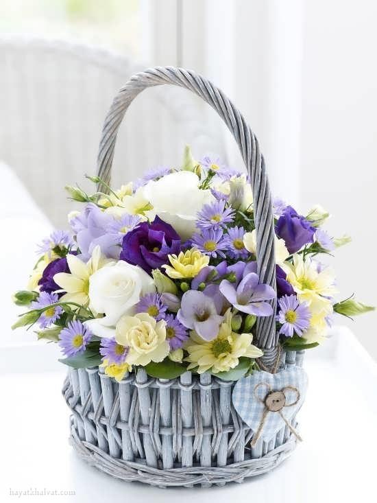 سبد گل زیبا و رومانتیک ، سبد گل خواستگاری
