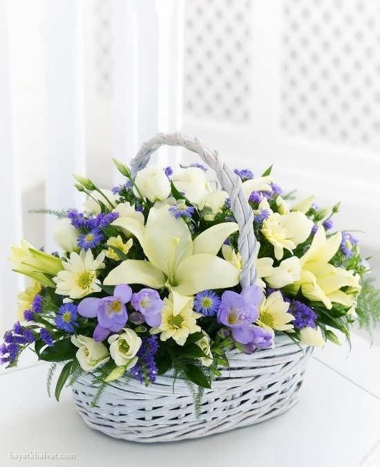 سبد گل برای تولد , سبد گل طبیعی